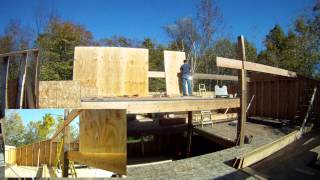 Roof Rafter Sandwich Beams 5th Floor - 52 - My Diy Garage Build Hd Time Lapse