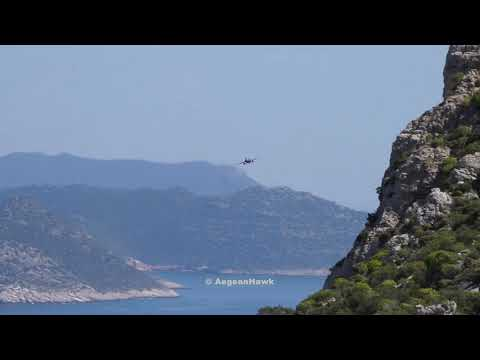 Hellenic Air Force F16 passing over Kastellorizo island.