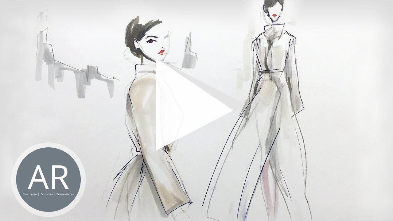 Youtube Video: Mappenbeispiele Kostümbild, Mappenvorbereitungskurs Kostümbild, Bewerbungsmappe Kostümbild