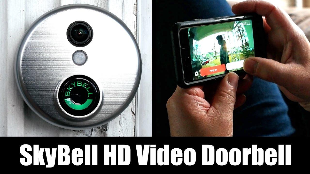 skybell hd wi fi video doorbell review installation tutorial setup video test 4k  [ 1280 x 720 Pixel ]
