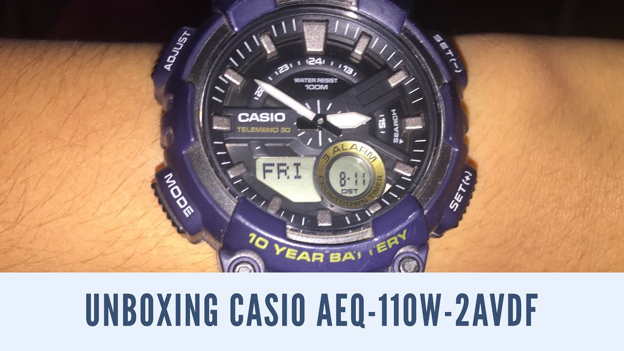 78a62d411 Casio Youth Analog-Digital Combination Navy Blue Watch- AEQ-110W-2AV price  in Kuwait | Compare Prices