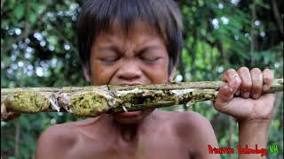 Primitive Technology - Eating delicious - Awesome cooking frogs recipe