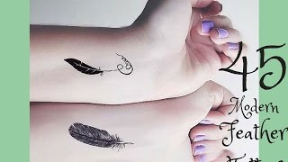 45 Modern Feather Tattoos