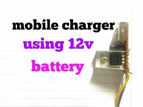 TNV - How to make mobile charger using 12v battery simple