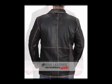 SUPER BROWN NATURAL DISTRESSED REAL LEATHER JACKET -Amazon.com