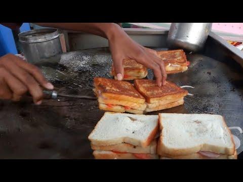 (Gugra Sandwich) Grilled Cheese Sandwich | Street food | Manek chowk | Ahmedabad