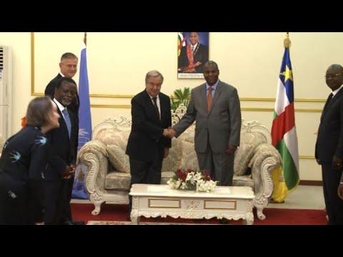 Bangui: visite d'Antonio Guterres en Centrafrique