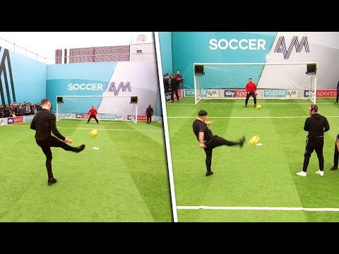 This is the WORST Volley Challenge attempt EVER | Newport County, Kieran Trippier & Tom Davis