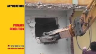 Гидроножницы Indeco первичный снос зданий. Демонтаж зданий гидроножницами.(Гидроножницы для бетона и металла представляют собой пару подвижных щек, которые смыкаются под действием..., 2014-01-29T12:54:24.000Z)