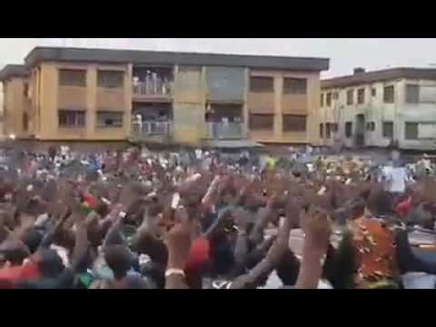 Haa! See How Nnamdi Kanu Was Welcomed In Anambra (Watch Video)