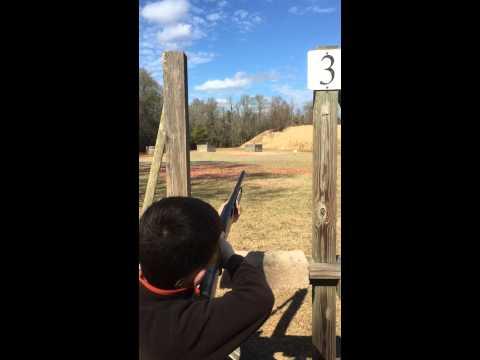 Logan skeet shooting 20 gauge first time shooting gun for Honey island shooting range