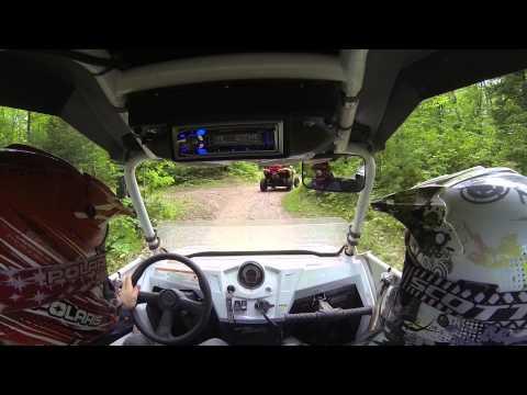 Sawyer County ATV Trails Rock Lake Fire Ln to W Phipps Fire Ln Trail 77 Wisconsin Polaris RZR 800