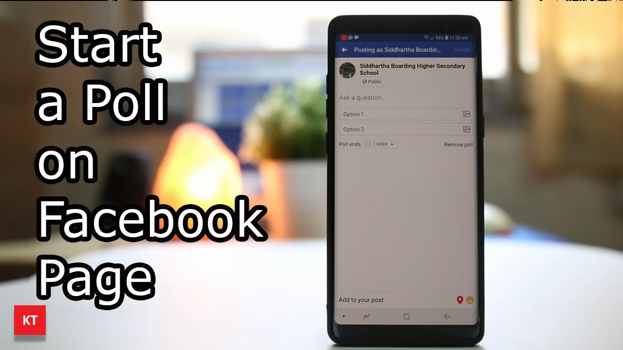 How to start a poll on Facebook page
