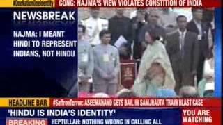 Najma Heptullah: I meant Hindi to represent Indians, not Hindu