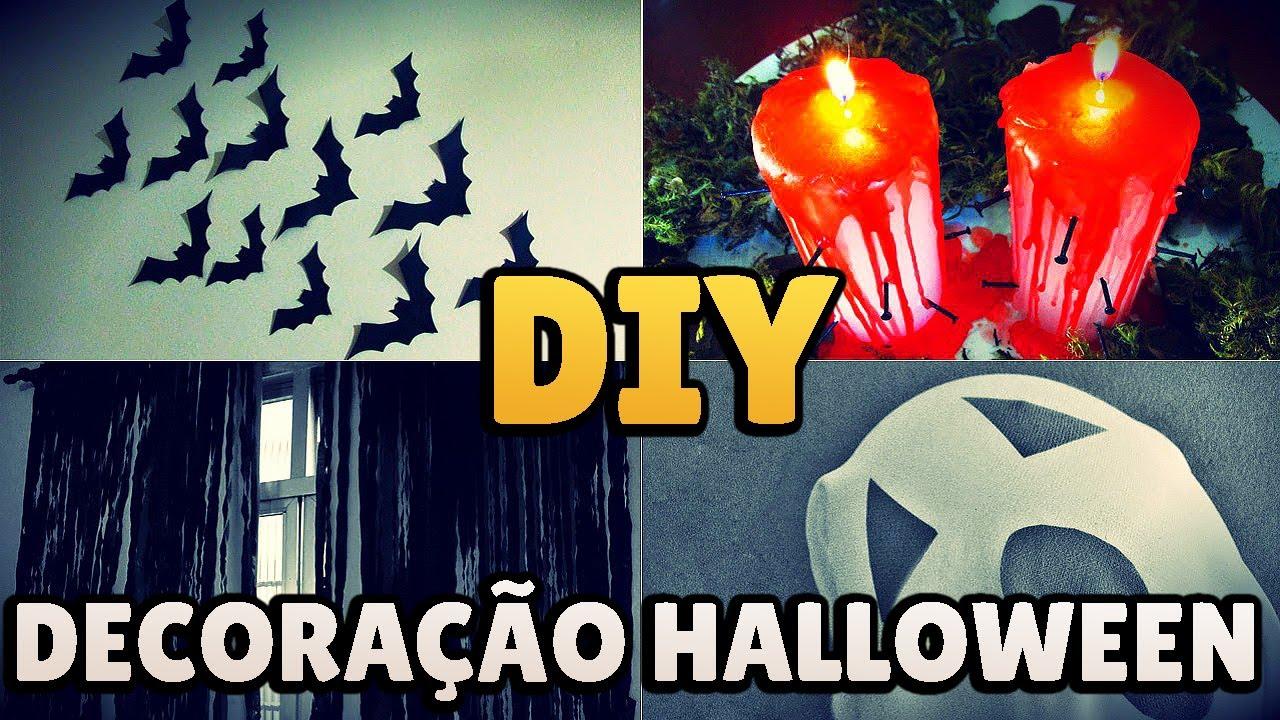 DIY 5 IDEIAS DE DECORA u00c7ÃO HALLOWEEN ud83d udc7b ud83c udf83 Festa Dia das Bruxas ud83e udd87 ud83d ude31 #diyhalloween YouTube -> Decoração De Festas De Halloween