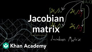 The Jacobian matrix(An introduction to how the jacobian matrix represents what a multivariable function looks like locally, as a linear transformation., 2017-01-10T18:46:38.000Z)