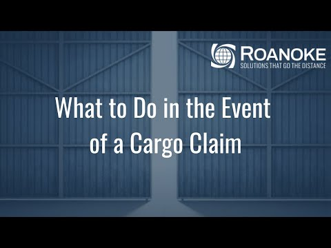 What To Do In The Event Of A Cargo Claim