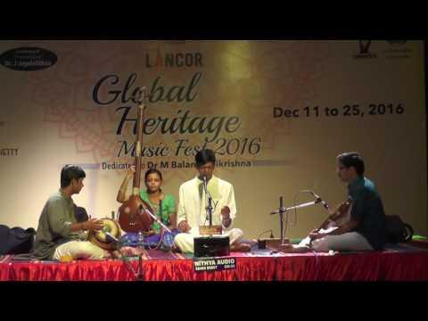 Carnatic Vocal  l Aditya Narayannan l Global Heritage Music Fest 2016 l Web Streaming