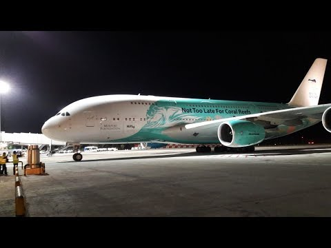 A380 llega por primera vez a Gran Canaria