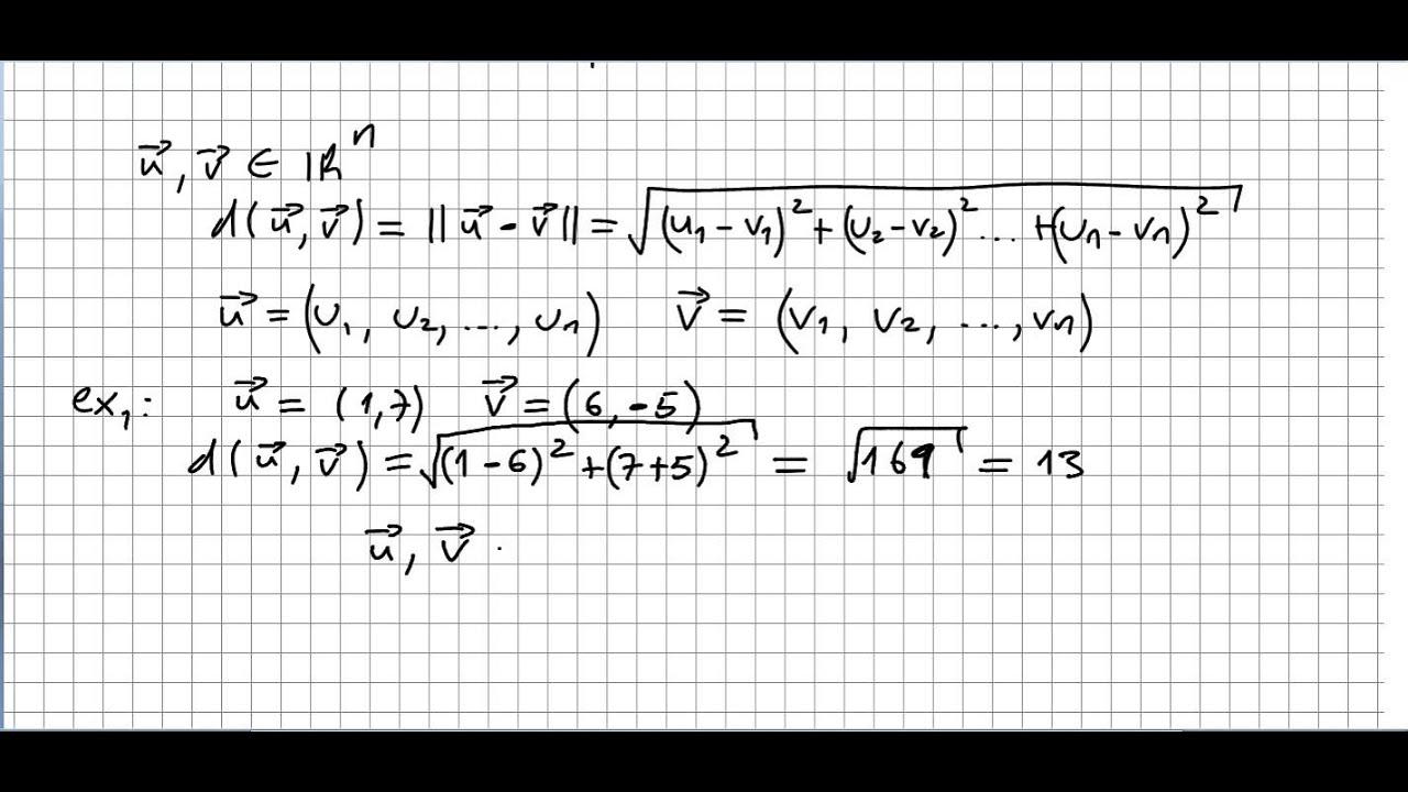 Linear Algebra 34 Vectors Distance examples  YouTube