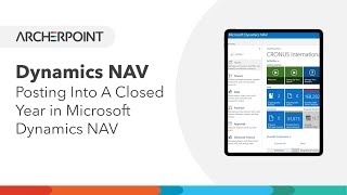 Dynamics NAV: Posting Into A Closed Year