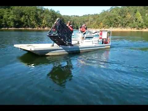 Carters lake fish attractors youtube for Carters lake fishing report