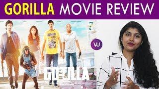 Gorilla Movie Review | Jiiva | Shalini Pandey | Yogi Babhu | Motta Rajendran | Radha Ravi |  Sam Cs