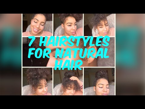 7 HAIRSTYLES FOR NATURAL HAIR! |ASIA DIONNA| NATURAL HAIRSTYLES