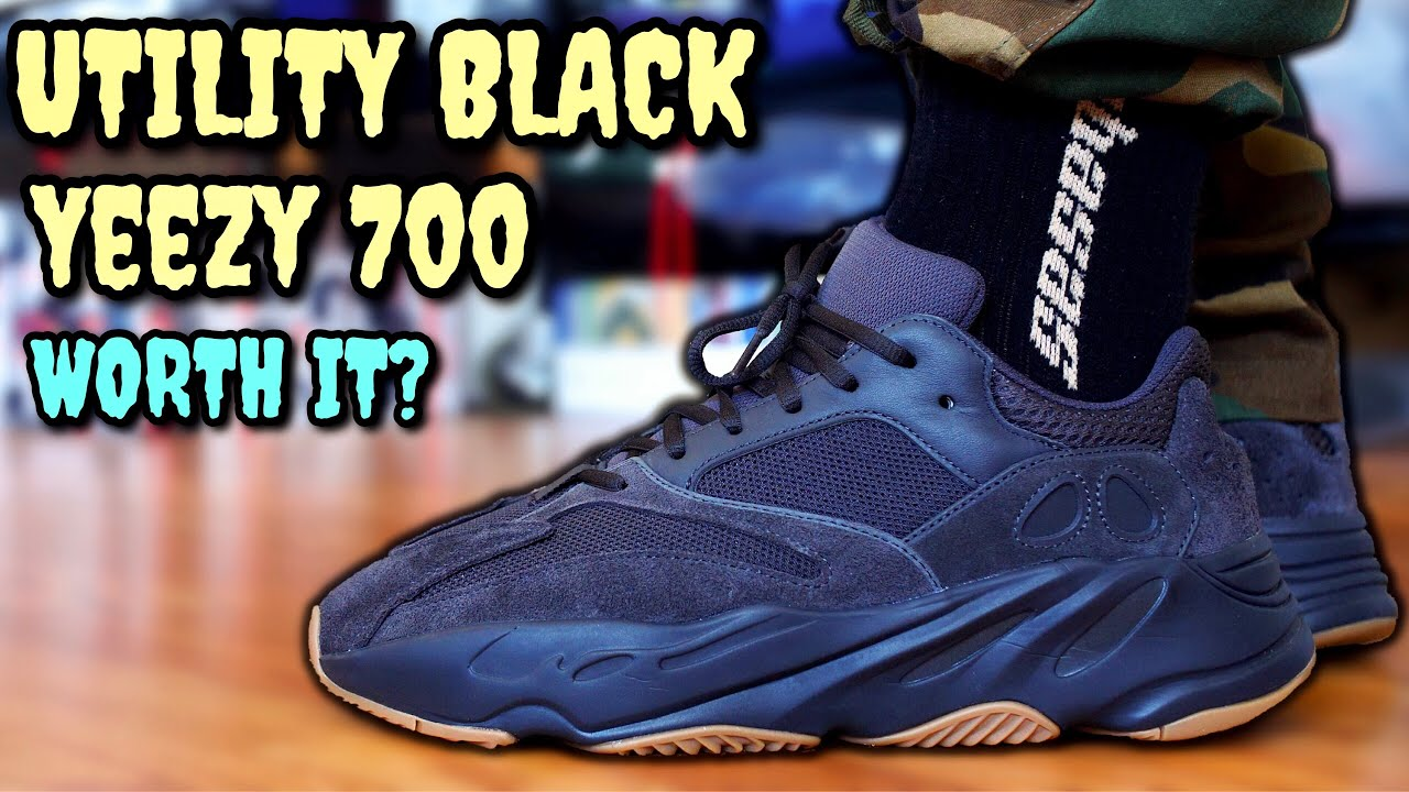 new product 2c85f e28ce ADIDAS YEEZY BOOST 700 UTILITY BLACK ON FEET REVIEW! Early Look & Vanta  Comparison