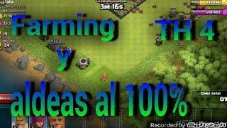 Mejor ejercito para farmear y hacer 100% a una aldea en ayuntamiento 4  Clash of Clans