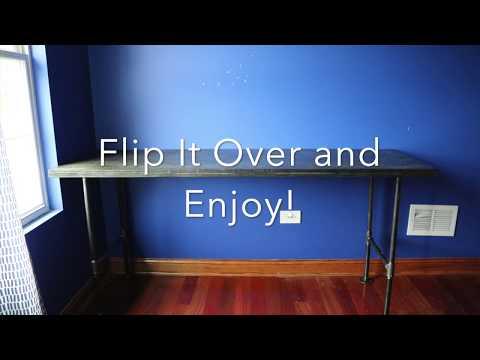 DIY Black Pipe Desk - Abel Marin WRD204
