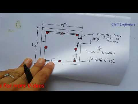 How to Study Column with Cross Section in Foundation Drawing