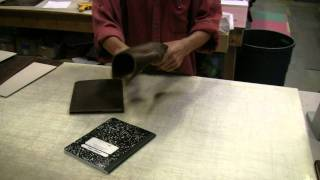 How we distress our Rustic Brown leather at Renaissance Art