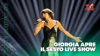 Giorgia apre il sesto Live di X Factor 2018