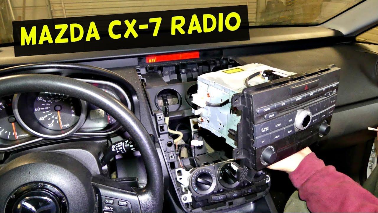 MAZDA CX7 RADIO REMOVAL REPLACEMENT MAZDA CX7 RADIO