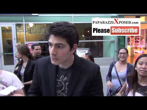 Brandon Routh talks about Henry Cavill in Man Of Steel outside the ArcLight Theatre in Hollywood