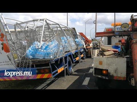 Camion renversé à Bagatelle: la circulation vers Port-Louis perturbée