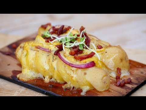 Cheese & Onion Planked Potatoes