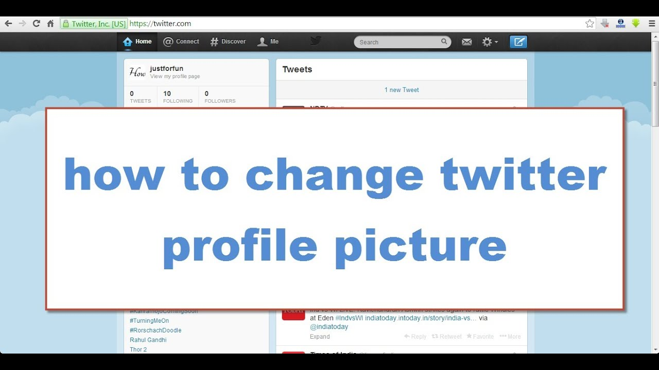 how to change twitter profile picture 2014 | how to change profile ...