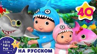 Малыш акула танцует | Музыка для сна | Детские песни | Литл Бэйби Колыбельная | Little Baby Bum
