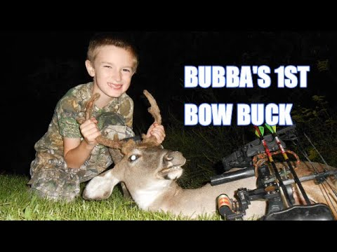 SIX YEAR OLD KILLS FIRST BUCK WITH A COMPOUND BOW ! 2020 Deer Hunt