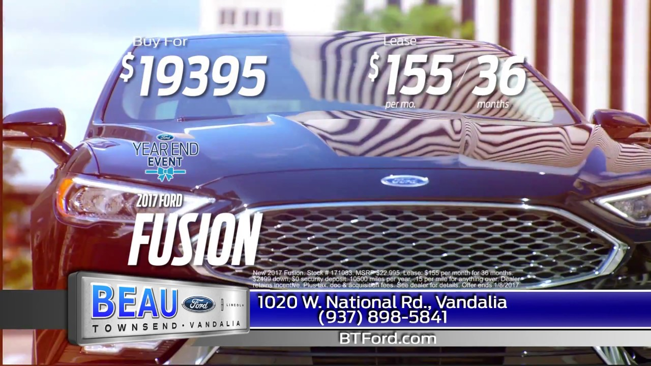 Beau Townsend Ford >> December 2016 Beau Townsend Ford Special Offers