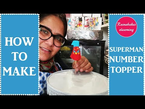 how-to-make-superman-cake-topper:number-toppers-decorating-tutorial-at-home