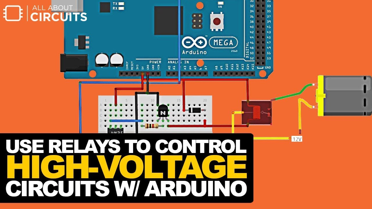 Use Relays To Control HighVoltage Circuits With An Arduino - Driver circuit for electromagnetic relay using microcontroller