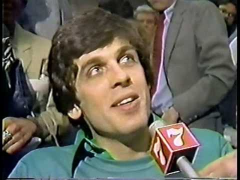 Celtics 1981 Championship Salute at Boston City Hall Plaza. John Dennis TV report.