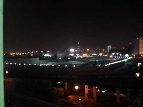 Riyadh KSA-. From Marriott on King Saud Rd.   100 degrees at night.