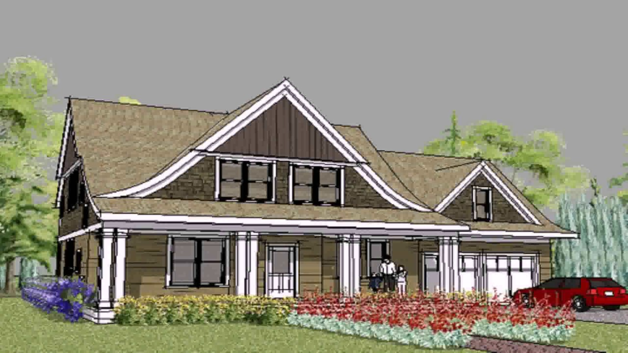 Modern Cape Cod Style House Plans - YouTube