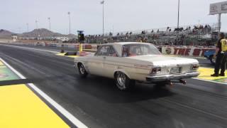 Chuck Rayburn's 1964 Plymouth Hemi at NHRA LasVegas Drags 9:96 Run