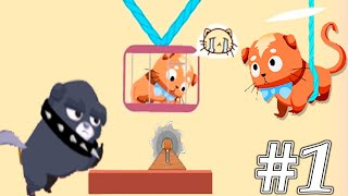 Rescue Kitten - Rope Puzzle Gameplay Walkthrough 1-50 Levels (ios, Android)