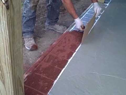 Stenciling A Brick Border On A Barn Porch   YouTube